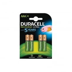 Duracell Recharge Ultra NiMH AAA Battery Card of 4