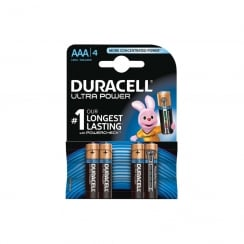 Duracell Ultra Power AAA Pack of 4