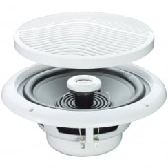 E Audio Round Ceiling Speaker With 2 Way Moisture Resistant Cone (SOLD AS PAIR) (Impedance (Ohms) 8 )