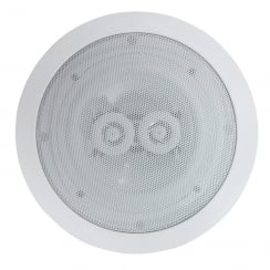 E Audio Round Ceiling Speakers With Duel Offset Tweeters