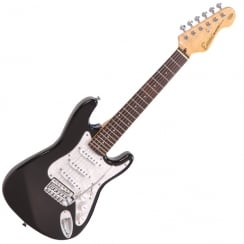 ENCORE E375BLK 3/4 Electric Guitar | Gloss Black