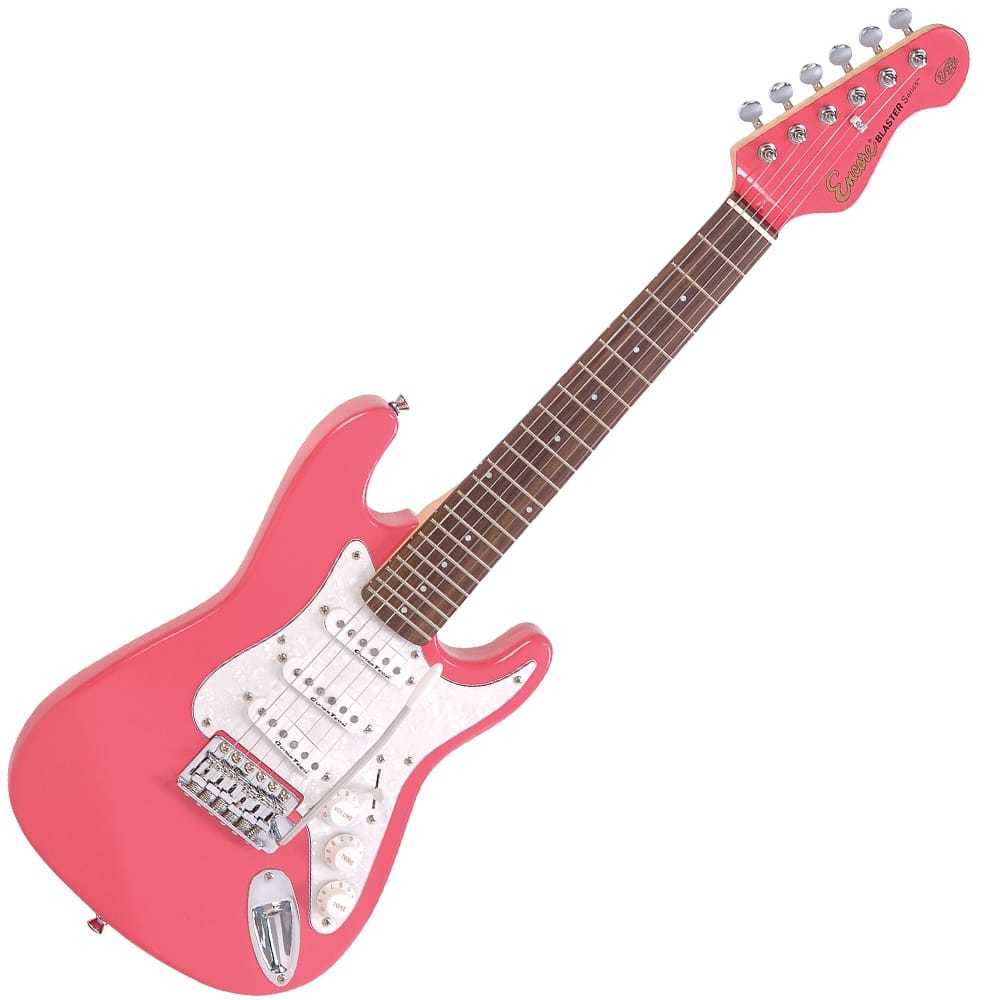 encore e375pk 3 4 electric guitar pink from rimmers music