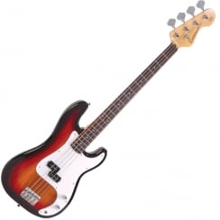 ENCORE E4SB Bass Guitar | 3 Tone Sunburst