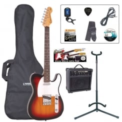 ENCORE EBP-E2SB Size Electric Guitar Outfit | Sunburst