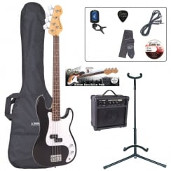 ENCORE EBP-E4BLK Bass Guitar Outfit |Black