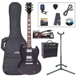 ENCORE EBP-E69BLK ELECTRIC GUITAR OUTFIT - GLOSS BLACK