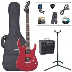 ENCORE EBP-E89TRD E89 Electric Guitar Outfit | Red