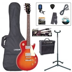 ENCORE EBP-E99CSB Electric Guitar Outfit | Cherry Sunburst