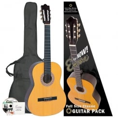 ENCORE ENC44OFT 4/4 Classic Guitar Outfit | Natural