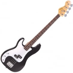ENCORE LH-E4BLK Left Handed Bass Guitar | Black