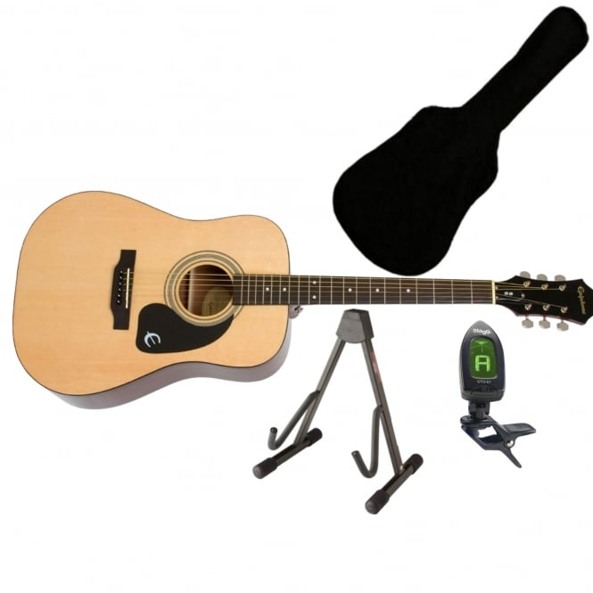 Epiphone DR-100 Acoustic Guitar Natural Bundle