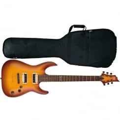 ESP LTD H-101FM Electric Guitar | Amber Sunburst