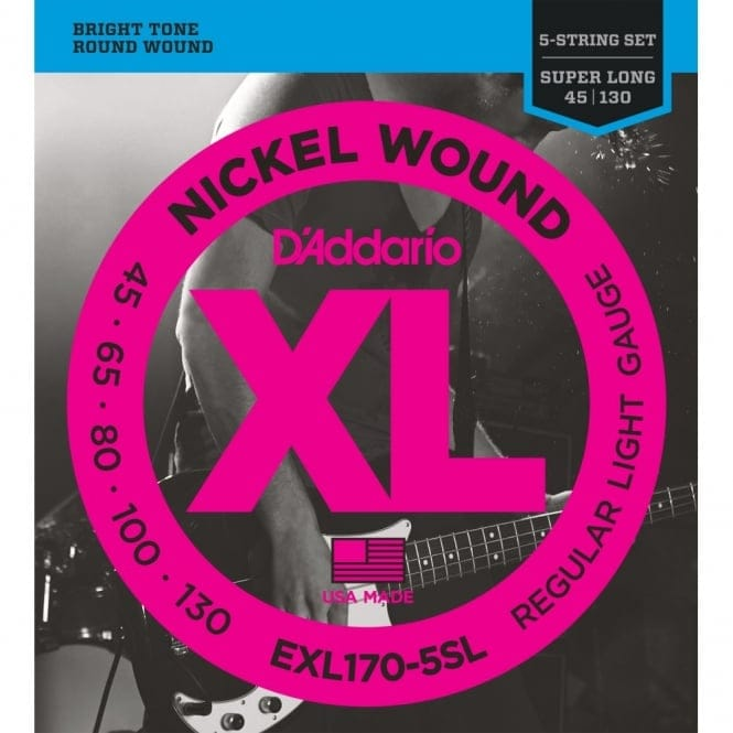 EXL170-5SL 5 String Nickel Wound Bass Guitar Light Super Long Scale