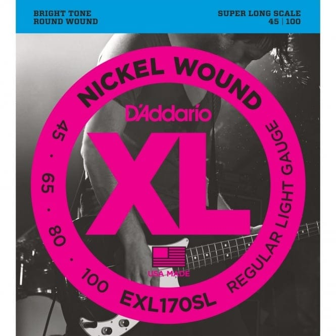 EXL170SL Nickel Wound Bass Guitar Strings, Light, Super Long Scale