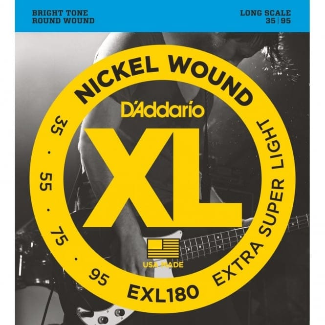 EXL180 Nickel Wound Bass Guitar Extra Super Light 35-95 Long Scale