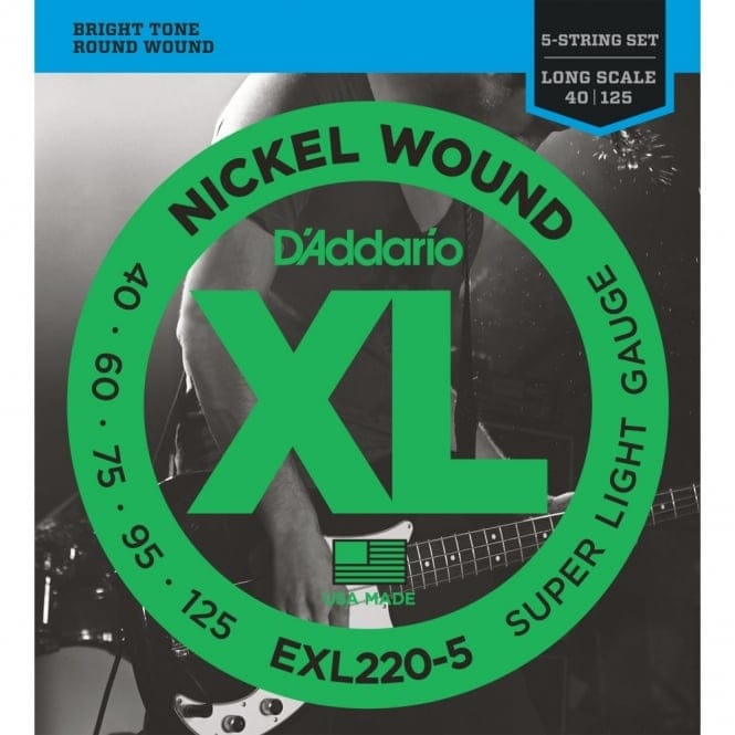 EXL220-5 5- Nickel Wound Bass Guitar Super Light 40-125 Long Scale