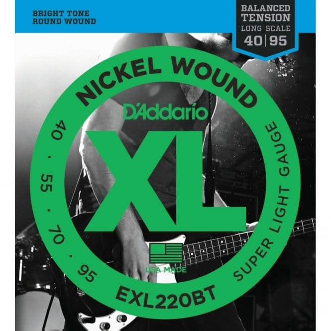 EXL220BT Nickel Wound Bass Guitar Balanced Tension Super Light 40-95