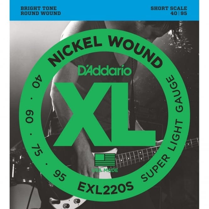 EXL220S Nickel Wound Bass Guitar Strings SuperLight 40-95 Short Scale