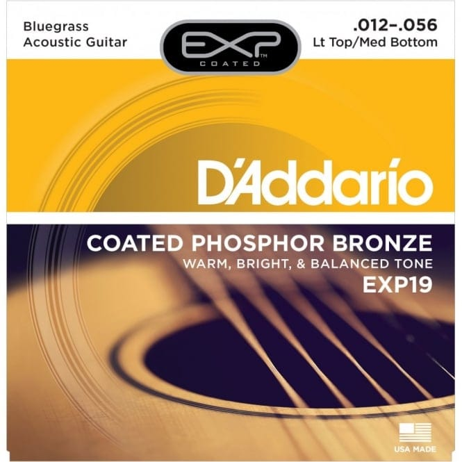 EXP19 Coated Phosphor Bronze Acoustic Light Top/Medium Bottom 12-56