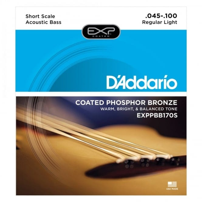 EXPPBB170S Phosphor BronzeCoated AcousticBass Strings ShortScale45-100