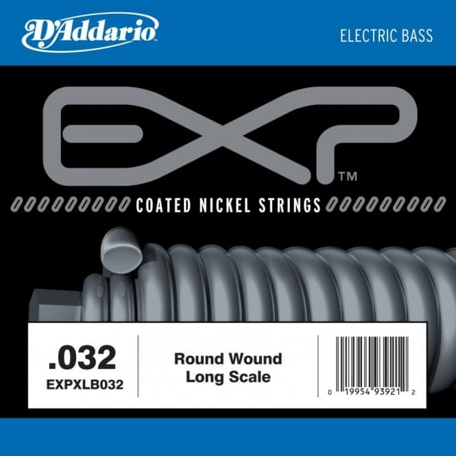 EXPXLB032 EXP Coated Nickel Round Wound Bass Guitar Single String .032