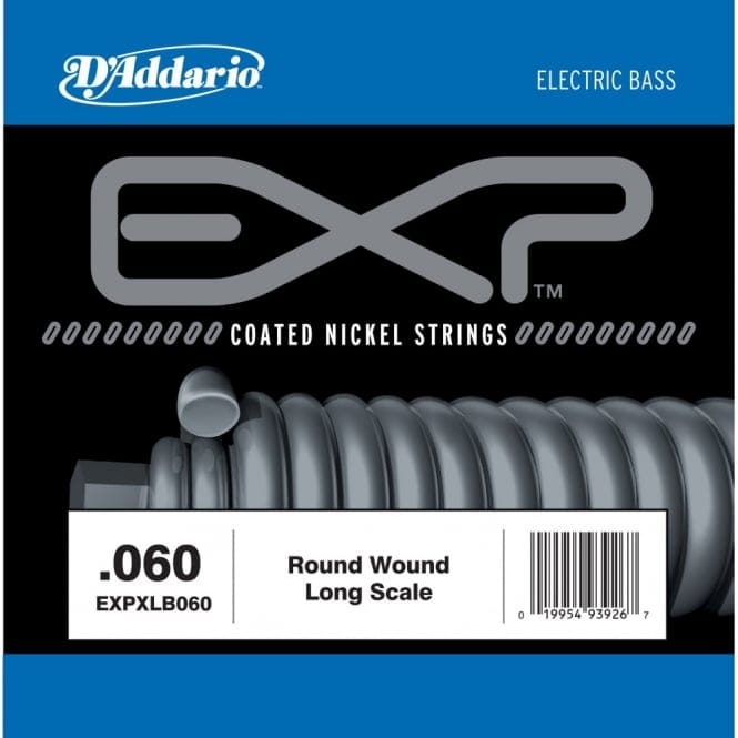 EXPXLB060 EXP Coated Nickel Round Wound Bass Guitar Single String .060