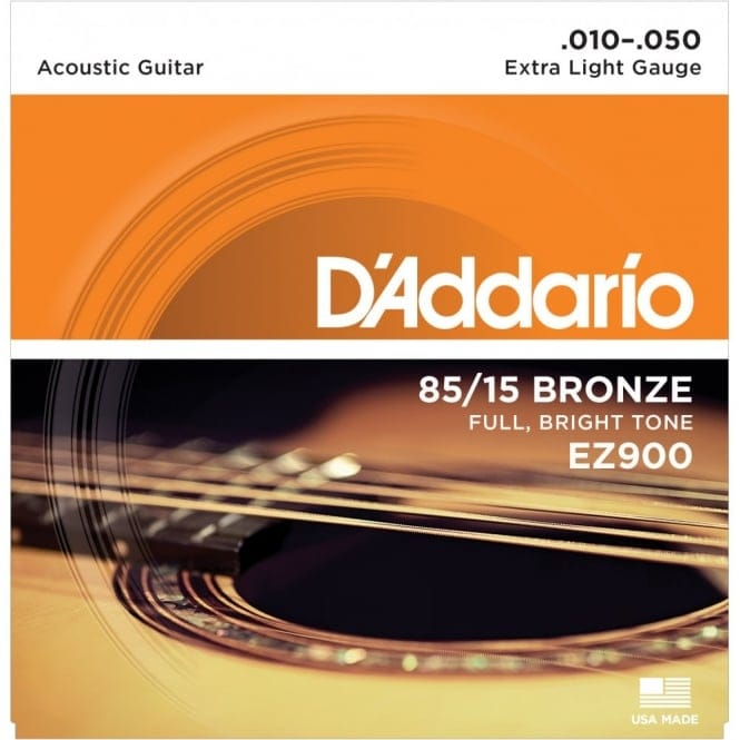 EZ900 85/15 Bronze Acoustic Guitar Strings, Extra Light, 10-50