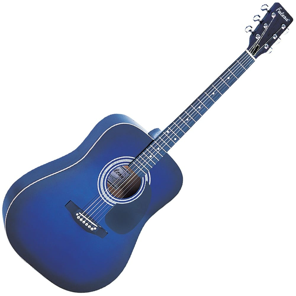 falcon dreadnought guitar blue from rimmers music. Black Bedroom Furniture Sets. Home Design Ideas