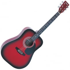 FALCON FG100R FG100R DREADNOUGHT GUITAR- RED