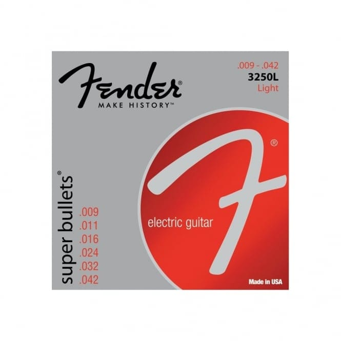 Fender 3250L Super Bullets | Nickel Plated Steel Guitar Strings
