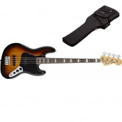 Fender 70s Jazz Bass | 3 Tone Sunburst | Includes Gigbag