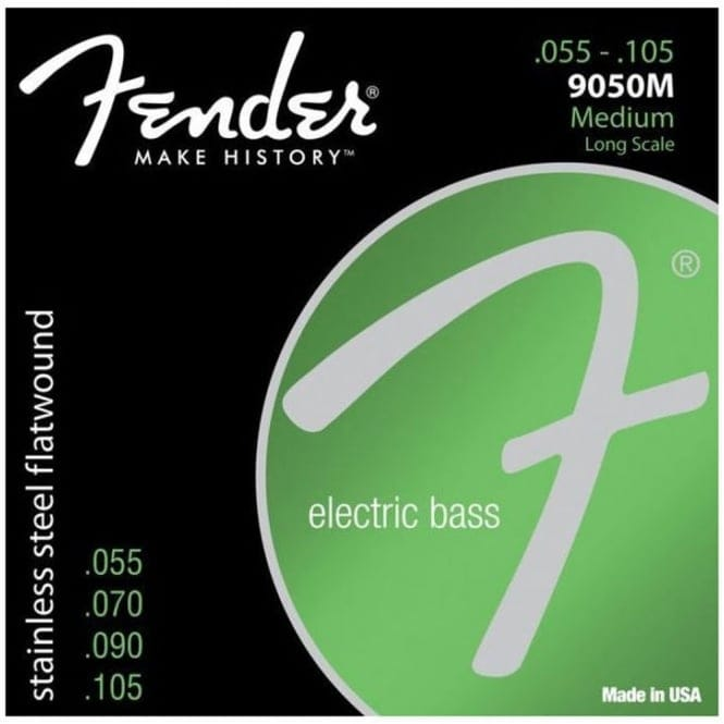 Fender 9050m Bass Guitar Strings | Stainless Steel Flatwound