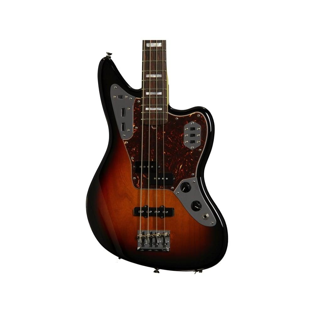 american standard jaguar bass rosewood fingerboard 3 color sunburst from rimmers music. Black Bedroom Furniture Sets. Home Design Ideas