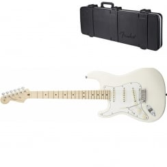 Fender American Standard Strat Left Hand 2012 Series | White | MN | Includes Case