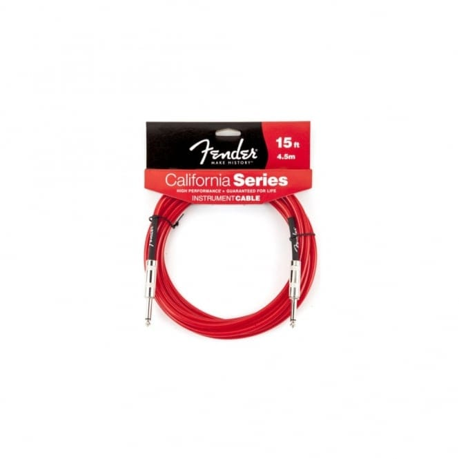 Fender California Series 15ft Guitar Lead | Candy Apple Red