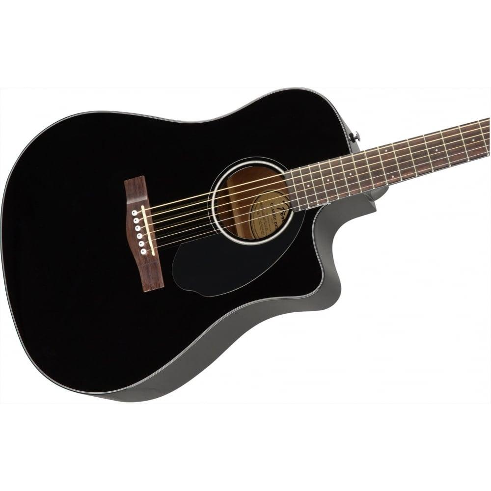 Fender CD60SCE Electro Acoustic Guitar Black 2017