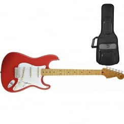 Fender Classics `50s Stratocaster | Fiesta Red | Maple Neck | Includes Gigbag