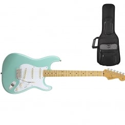 Fender Classics `50s Stratocaster | Surf Green | Maple Neck | Includes Gigbag