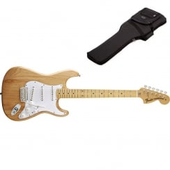 Fender Classics `70s Stratocaster | Natural | Maple Neck | Includes Gigbag