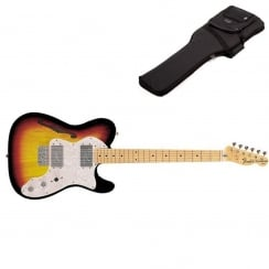Fender Classics `72 Telecaster Thinline | 3 Tone Sunburst | Maple Neck | Includes Gigbag