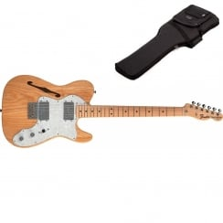Fender Classics `72 Telecaster Thinline | Natural Ash | Maple Neck | Includes Gigbag