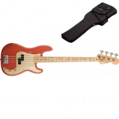 Fender Road Worn 50s Precision Bass Guitar | Fiesta Red | Includes Gigbag