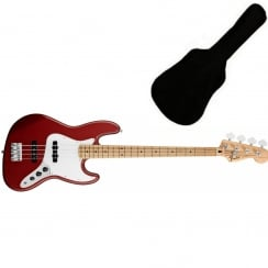 Fender Standard Jazz Bass | Candy Apple Red | MN Tinted Neck | Includes Gigbag