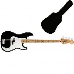 Fender Standard Precision Bass | Black | MN Tinted | Includes Gigbag