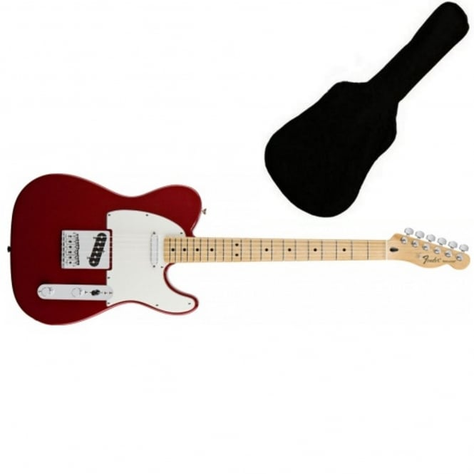 Fender Standard Telecaster | Candy Apple Red | MN Tinted | Includes Gigbag