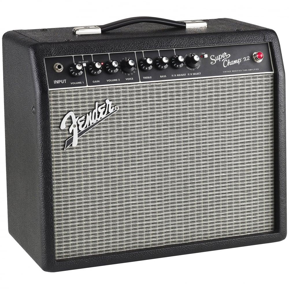 fender super champ x2 15w valve guitar amplifier combo. Black Bedroom Furniture Sets. Home Design Ideas