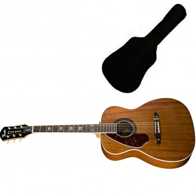 Fender Tim Armstrong Hellcat Electro-Acoustic Dreadnought Guitar Natural (Left) | Includes Gigbag