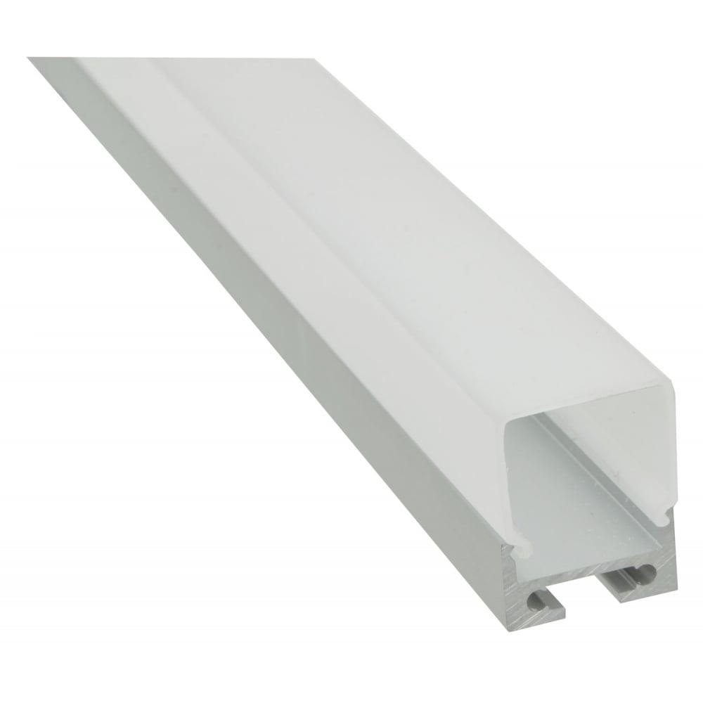 aluminium led tape profile 2m batten from rimmers music. Black Bedroom Furniture Sets. Home Design Ideas