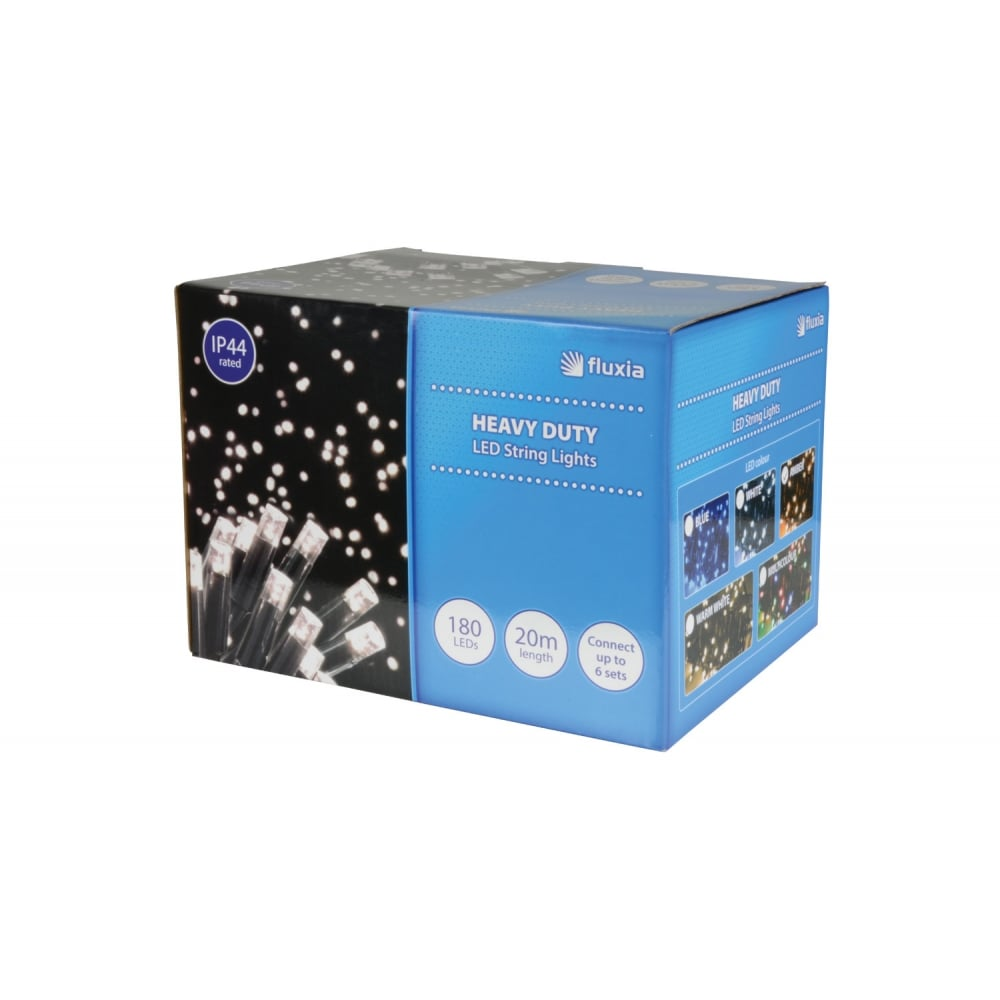 180 LED heavy duty static string light - Amber from Rimmers Music