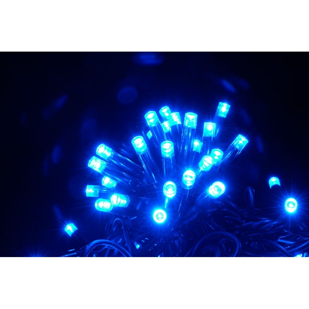 String Lights Music : 180 LED heavy duty static string light - Blue from Rimmers Music